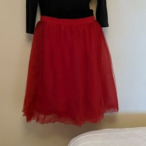 Red tulle skirt 2x plus size puff